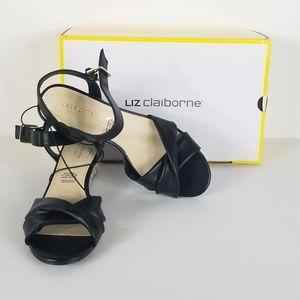 Liz Claiborne Sewell women's low heel black wedge